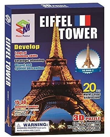 Elefel Tower 3D Puzzle, 20 Pieces by 3d Puzzle Place: Amazon