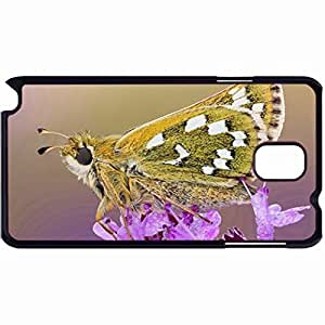 Customized Back Cover Case For Samsung Galaxy Note 3 Hardshell Case, Black Back Cover Design Butterfly Personalized Unique Case For Samsung Note 3