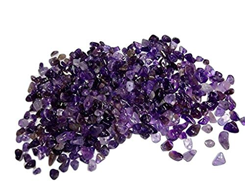 - Sublime Gifts Amethyst Chips ( 2 Ounce Package) of Premium Small Tumbled Gemstone Crystal Healing Chips