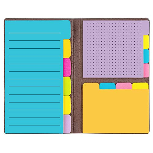 Colored Divider Sticky Notes Bundle Set Self-Stick Note by LE PAPILLION- Sticky Note Pads Bookmark with Color Coding - 60 Ruled Lined Notes (3.8x5.9), 48 Dotted Notes (3x3.8), 48 Blank Notes (2.6x3.8) -  LE PAPILLION JEWELRY, S-N-1