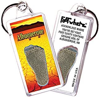 "product image for Albuquerque""FootWhere"" Souvenir Keychain. Made in USA (AQ104 - Desert Heat)"