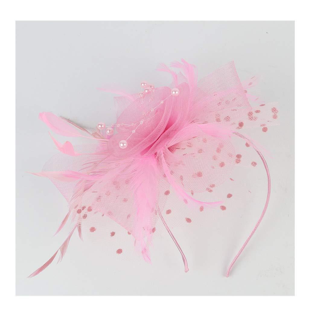 Midress Headpiece Flapper Great Gatsby Headband Pearl Charleston Party Bridal Headpiece (B)