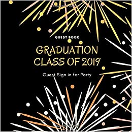graduation class of guest sign in for party guest book