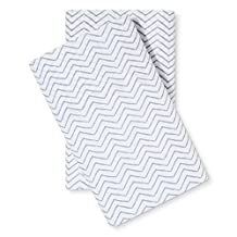 Threshold Classic Percale 300 Thread Count Pillowcase Set (King, Gray Chevron)