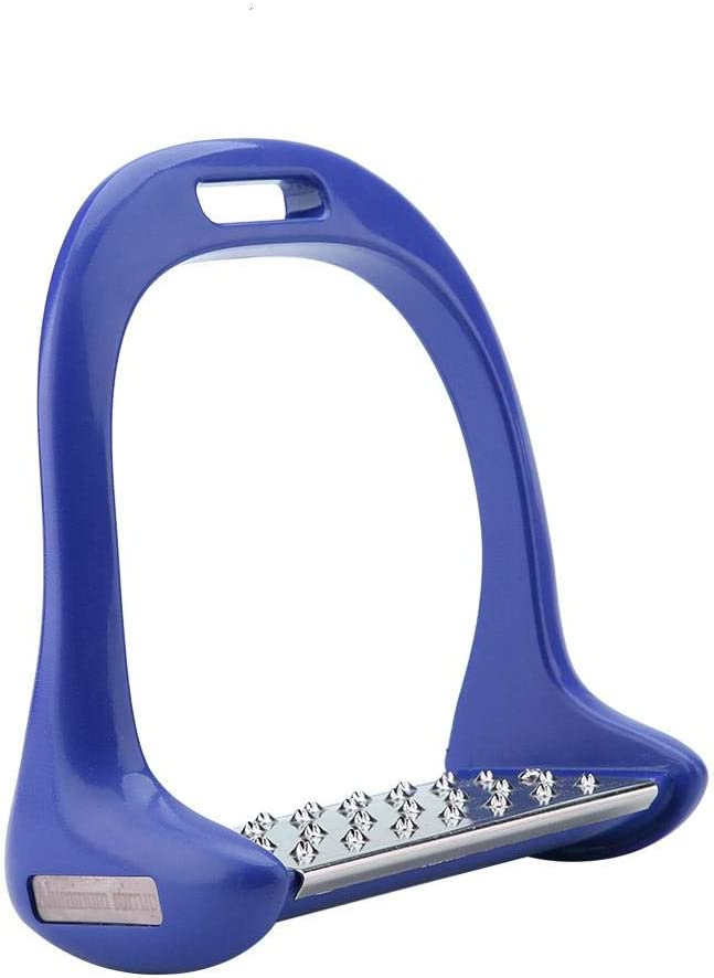 Feg Estribo para Montar a Caballo, 5 Colores Diferentes Silla de Montar de Aluminio Ecuestre, Duradero para Mujer Adultos Caballero(Blue)