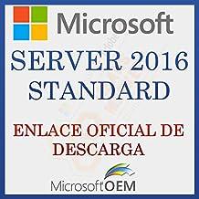 MS Server 2016 STD | Enlace Oficial | Con Factura | Versión Completa, Licencia Original de por vida, código de activación de la licencia de correo electrónico y tiempo de entrega del mensaje: 6 horas