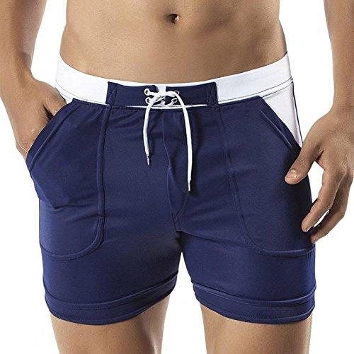 ZQ@QXXL fashion men's maillot de bain confortable et respirant pantalons de plage,S,blue