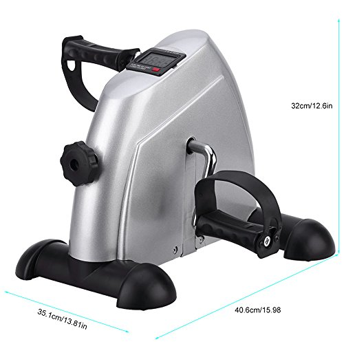 Mini Exercise Bike Portable Home Pedal Exerciser Gym Fitness Leg Arm Cardio Training Adjustable Resistance LCD Display Women Men by HIMALY (Image #7)