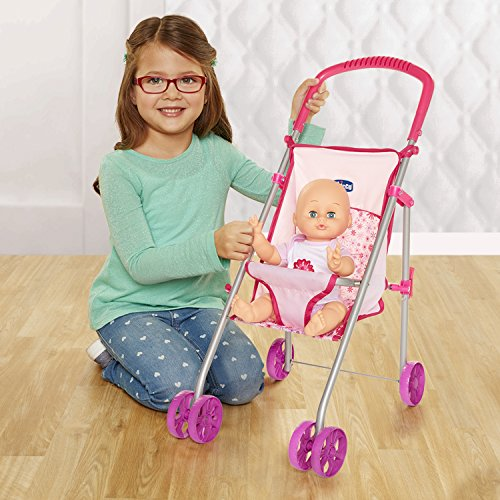 Chicco Flat Fold Stroller for Baby Dolls, Pink[Amazon Exclusive]