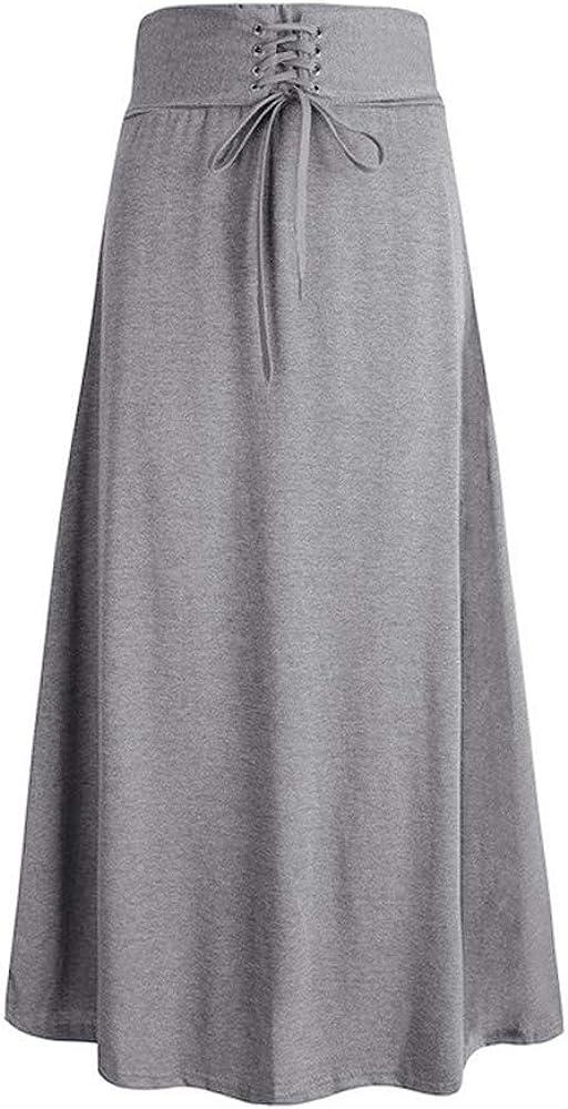 FELZ Falda Mujer Corta Falda Midi Mujer Falda de la Moda del Color ...