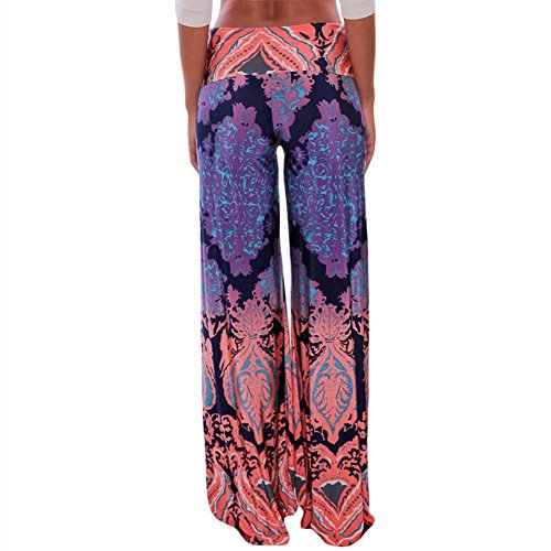 LOSRLY-Women-Wide-Leg-High-Elastic-Waist-Printed-Boho-Palazzo-Pants-Plus-Size