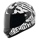 Speed and Strength SS700 Rage with the Machine Adult Street Motorcycle Helmet - Matte Black/White/X-Small