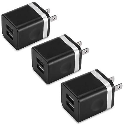 Amazon.com: Cargador de pared USB, BEST4ONE 10,5 W (2,1 A/5V ...