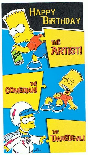 Happy Birthday Bart Simpson Greetings Card The Simpsons 6 4402