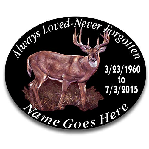 Always Loved Never Forgotten Memorial Decal Whitetail Deer 4