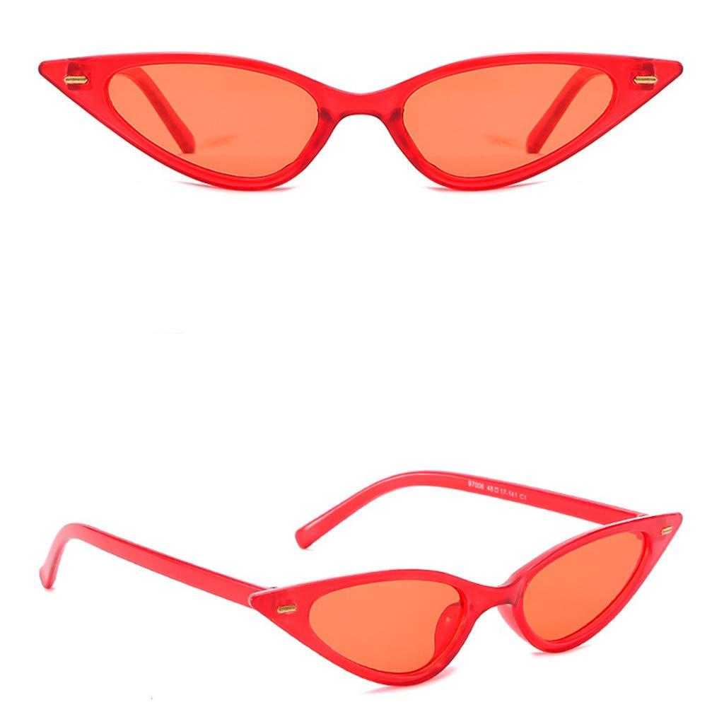 FakMe Small Cat Eye Sunglasses Vintage Square Shade Women Eyewear
