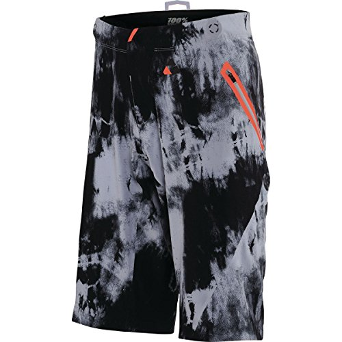 100% Celium All Mountain Short - Men's Black Tiedyed, 38 by 100%