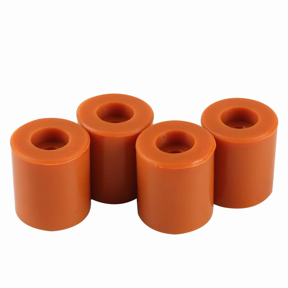 BCZAMD Heatbed Silicone Leveling Column, 3D Printer Hot Bed Mounts Column Stable Tool Heat-Resistant Silicone Buffer for Prusa i3 Plus Ender 3 Anet A8 Wanhao D9 Anycubic Mega, 4 Pack Brown
