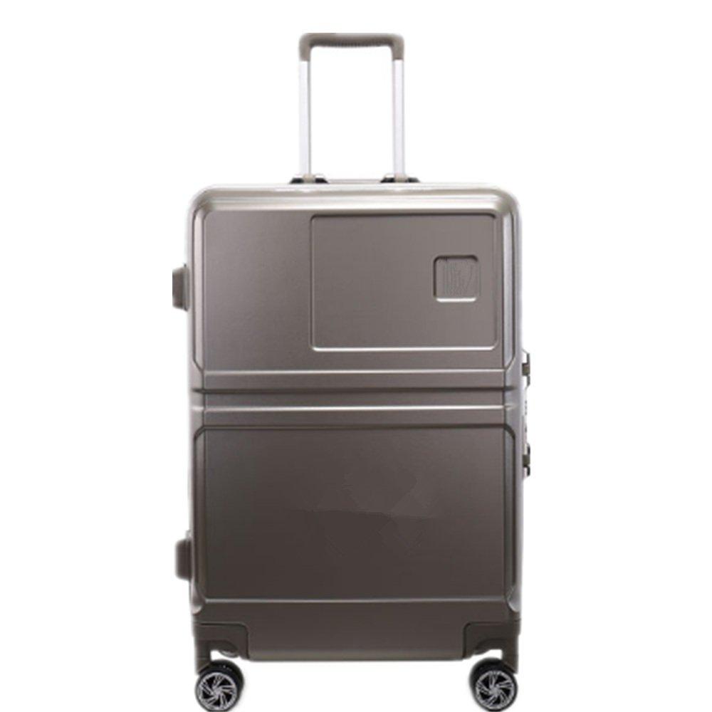 旅行用品荷物スーツケーストロリーケース プレミアム回転pcボックスアルミフレームユニバーサルホイール税関ロックパスワードボックス男性と女性25インチ荷物 B07SCWJC9Q