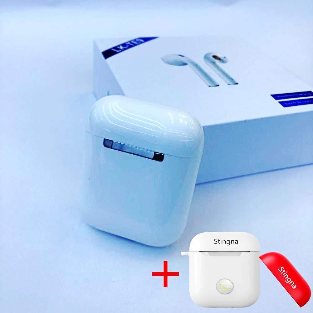 LK-TE9 i14 TWS タッチコントロール ワイヤレス Bluetooth 5.0 重い 3D サラウンドサウンドイヤホン  ホワイト B07PG6328D