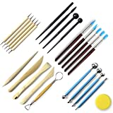 Simplebreeze 24pcs Ball Stylus Dotting Tools, Clay Pottery Modeling Set Carving Tools Rock Painting Kit for Sculpture Pottery