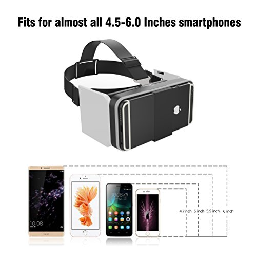 GenBasic Compact Folding Virtual Reality VR Headset - Light 3D Viewer for Android Cardboard and iPhone VR by GenBasic (Image #3)