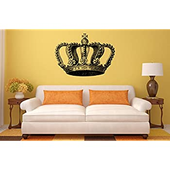 King And Queen Crowns His And Her Modern Vinyl Wall Art