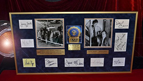 NYPD BLUE Autograph Frame Set 9 stars Signed Franz, Smits, Caruso + MORE and 12 episode DVD Collection, authenticity PSA/DNA, R &R, COAs (Best Nypd Blue Episodes)
