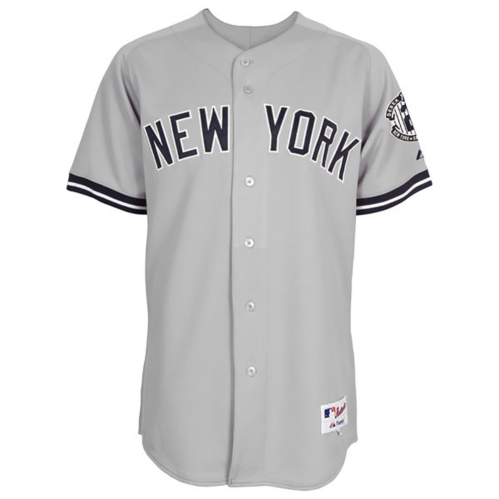 official photos fa63b 4a598 New York Yankees Majestic Road Retirement Patch Cool Base Derek Jeter Jersey