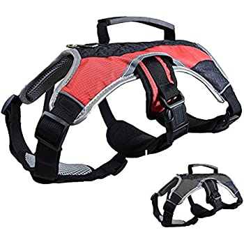 Amazon Com Peak Pooch Dog Support Harness Vest No Pull With