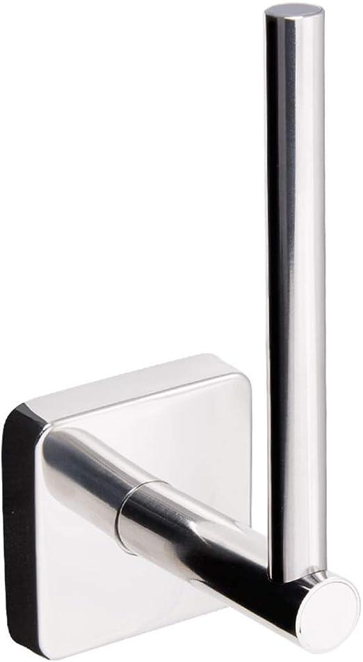 Made in der EU Poliert 20 Jahre Garanti Kapitan Quattro Vertikal WC Ersatzrollenhalter Selbstklebend V2A 18//10 Edelstahl Quadratischer Stil Toilettenpapierhalter Wandmontage