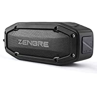 Speakers, ZENBRE D6 2x5W Wireless Portable Speakers V4.1 with Waterproof IPX6, 18h Play-time, Super Loud Sound with Bass Resonator (Black)
