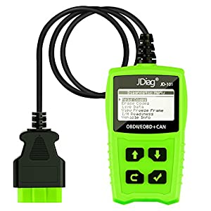 JDiag OBD2 Car Scanner JD101 Diagnostic Scan Tool Automotive Engine Fault OBDII Code Reader for All Cars From 1996 Original