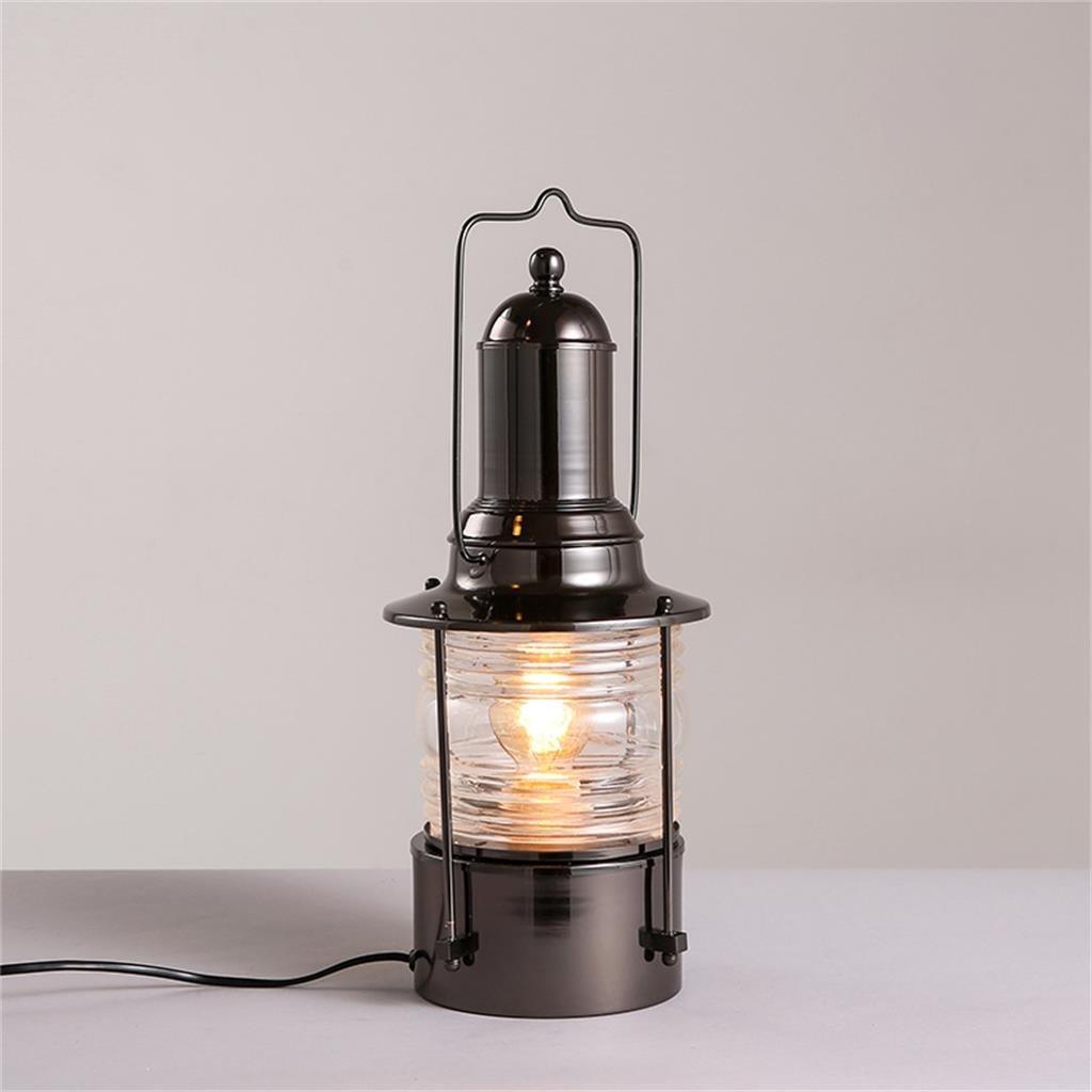 ZHENGAI Nostalgic retro kreative Persönlichkeit Schreibtischlampe Schlafzimmer Nachteisenindustrie Cafe Tischleuchte Nachttischlampen