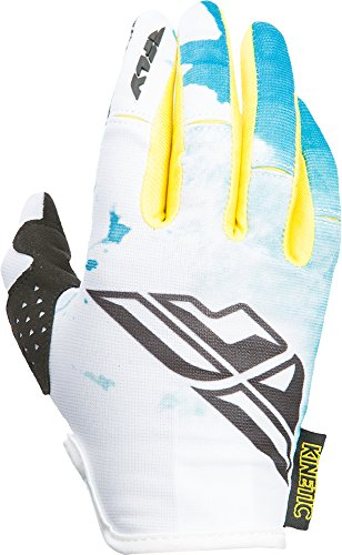 Fly Racing Unisex-Adult Kinetic Women's Gloves Teal/Yellow X-Large