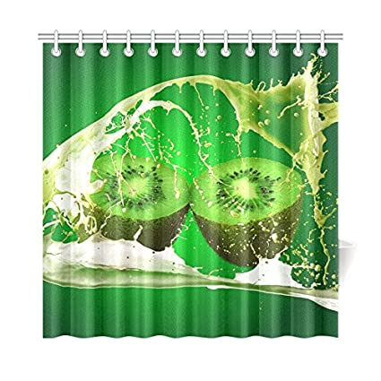 Tianyuss Cortina de baño de decoración para el hogar, cortina de frutas, vitaminas de