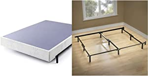 Zinus Walter 9 Inch Smart Box Spring, California King & Michelle Compack 9-Leg Support Bed Frame, for Box Spring and Mattress Set, Cal King