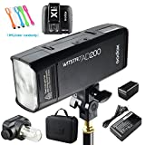 Godox AD200 200Ws 2.4G TTL Flash Strobe Speedlite 1/8000s HSS 2900mAh Battery with X1T-C Wireless Flash Transmitter for Canon DSLR Camera
