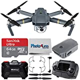 DJI Mavic Pro + DJI Mavic Propeller Guard + SanDisk Ultra 64GB microSDXC UHS-I Card with Adapter + Vivitar Memory Card Hardcase (24 Slots) + Photo4Less Cleaning Cloth – Ultimate Drone Accessory Bundle