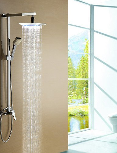 Ling@ Shower Tap Shower Faucet Color Changing LED with 8 inch Shower Head + Hand Shower price