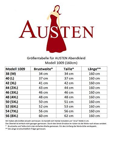 56 ca SOPHIA 160cm 38 Abendkleid Gr Austen Länge Dunkelblau 1tlg Dunkelblau 1009 fqw5S0z