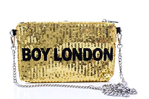 Boy London - Cartera de mano de Material Sintético para mujer dorado