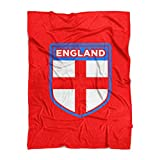 500 Level England Throw Blanket - Red 60'' x 80'' England Soccer Shield