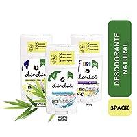 3pack Desodorante NATURAL. Libre de Aluminio. Libre de quimicos. Con aceite esencial tea tree oil adicionado con Vit E. Vegano neutro, coco, kids. UNISEX