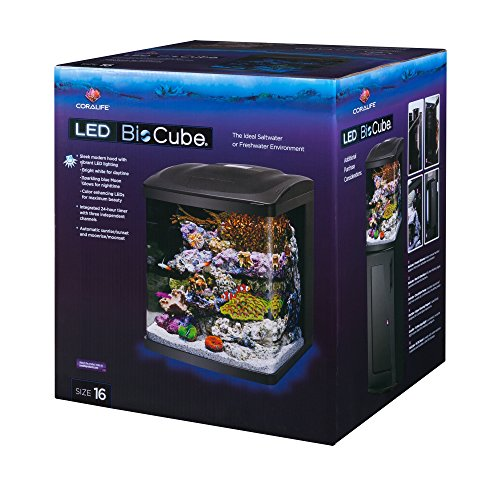 Coralife Fish Tank LED BioCube Aquarium Starter Kits, Size 16 by Coralife