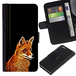 Planetar® Modelo colorido cuero carpeta tirón caso cubierta piel Holster Funda protección Para Apple (4.7 inches!!!) iPhone 6 ( Fox Red Ginger animal de piel del Bosque Cunning Fairytale )