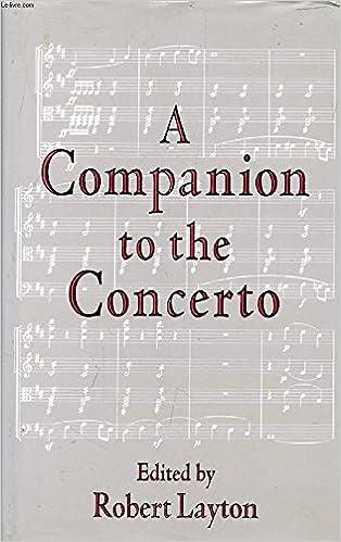 A Companion to the Concerto Cover Art