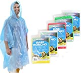 Wealers 5 Pack Poncho's One Size Fit All with Hood, Individual Packed (Assorted)