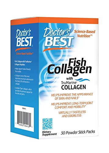 Doctor's Best Fish Collagen with TruMarine Collagen, Non-GMO, Gluten Free, Soy Free, Supports Skin, Nails, Joints, 30 Powder Stick Packs Review