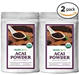 Healthworks Acai Berry Powder Freeze-Dried Raw Organic, 8 Ounce(2 4oz Pack)